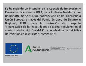 Subvención Junta Andalucía